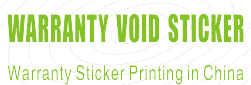 Warranty Void Sticker