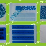 Blue Tamper Evident VOID Polyester Stickers