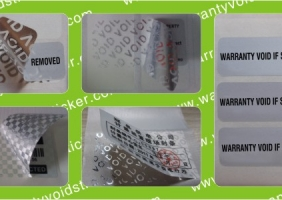 Matte Silver Tamper Evident VOID Polyester Stickers