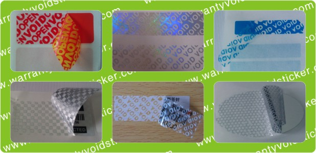 Tamper Evident VOID Polyester Warranty Stickers