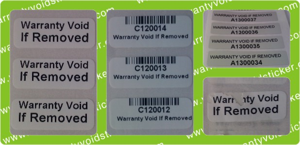 Warranty Void If Removed Stickers Warranty Void Sticker